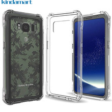 Kindamart Slim Clear Case For Samsung Galaxy S8 Active Silicone Bumper Anti-Scratch Sturdy Back Cover For Galaxy S8 Active Case