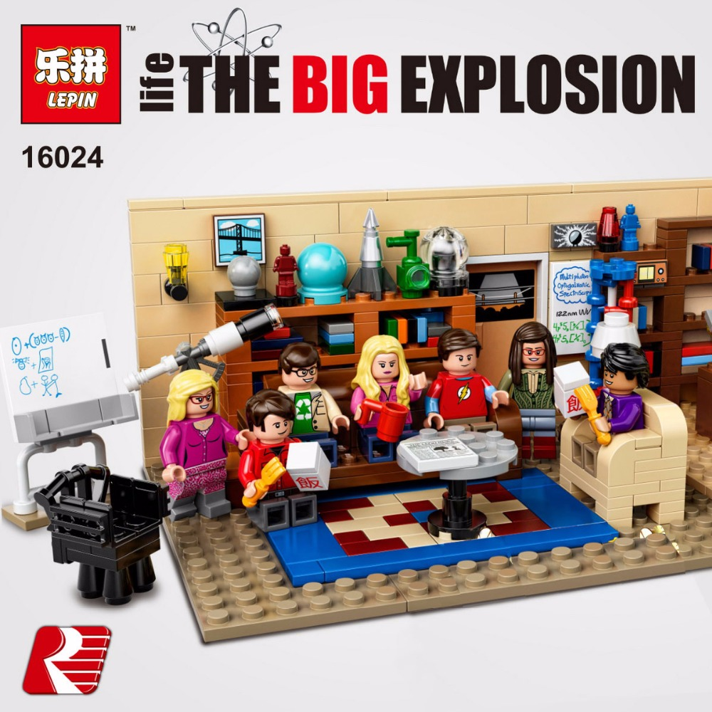 LEPIN 16024 534Pcs Big Bang Set Blocks IDEAS Series Educational Building Blocks Bricks for Children Toys Gift Compatible 21302<br>