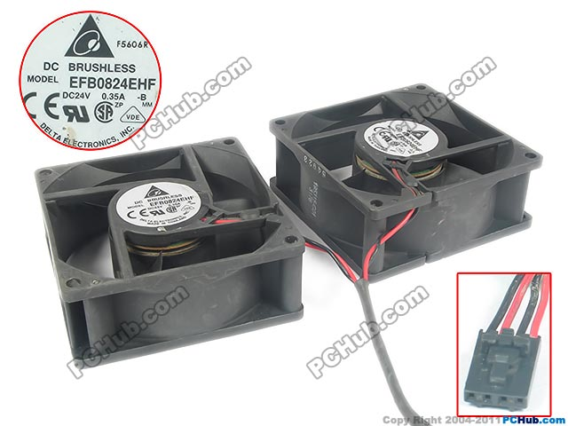 Frss shipping for Delta EFB0824EHF, -B DC 24V 0.35A 4-wire 4-pin 80X80X35mm Server Square fan<br>