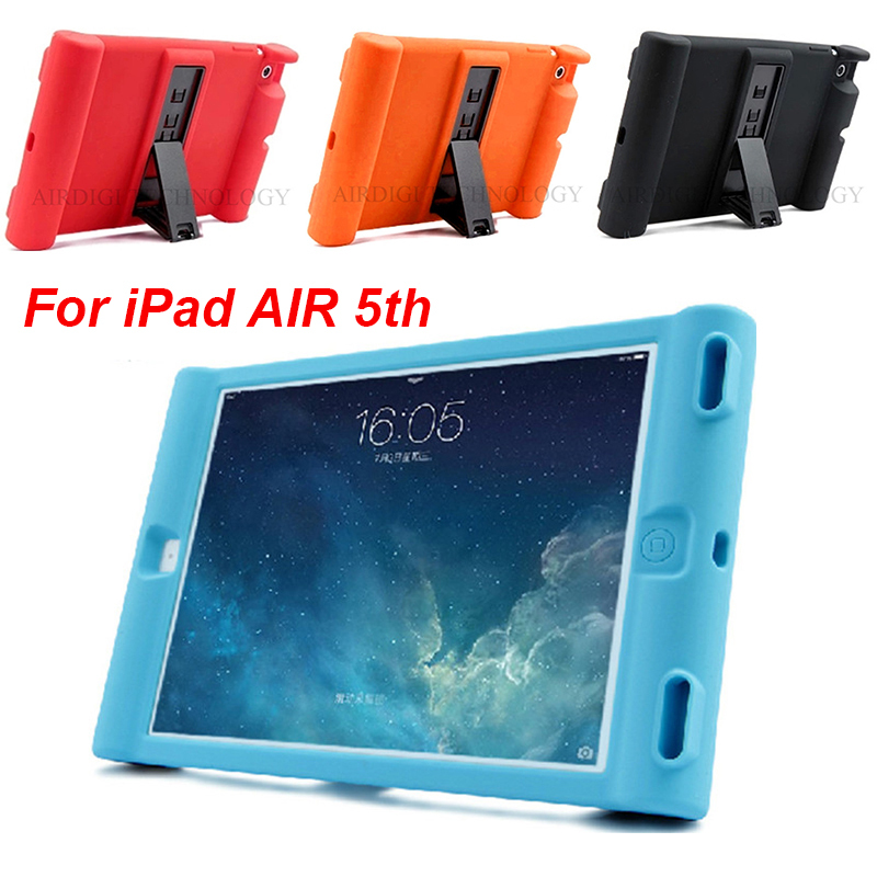Smart Stand Case Cover iPad 5 iPad Air 1 Cases Kids Children Safe Silicon iPad air 1 Protective Cases Candy Colors