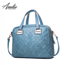 AMELIE GALANTI 2017 women handbags casual tote bags top-handle bag solid high quality pu zipper versatile sequined single strap(China)
