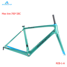 2017 carbon road bike frame bicycle frame size 48 50 52 54 56cm,super light cheap carbon frame matte paint glossy(China)