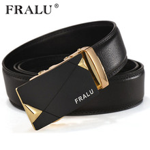 FRALU 2017 luxury leather belt men high quality mens belts designer automatic buckle waist belt for men fashion brand Strap(China)