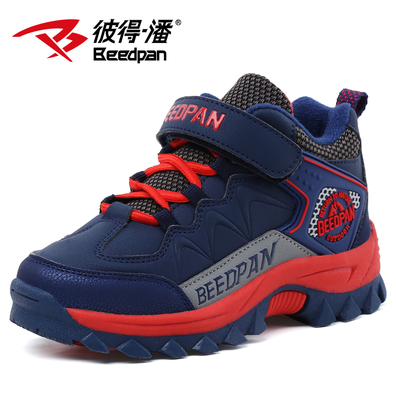 Beedpan Brands 2017 New Fashion Large boy shoes children Mountaineering shoes baby winter shoes plus velvet warm sneakers<br><br>Aliexpress