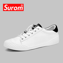 Buy SUROM Luxury Brand Men Shoes Leather Casual White Shoes Mens Krasovki Spring Summer Lace Men Tenis Fashion Sneakers 2018 for $25.09 in AliExpress store