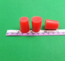 6pcs/lot 15.88mm X 19.84mm X 25.4mm Silicone Rubber Cone Tapered Stopper Plugs Powder Coating Paint, color random(China)