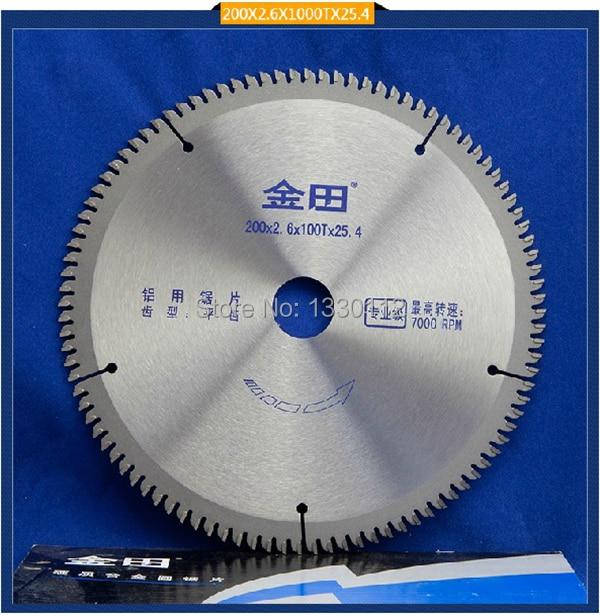 Free Shipping 1pcs diameter 8 200*2.6*100T*25.4 circular saw blade aluminum cutting aluminum/wood/thin profile/tube/extrusion<br>