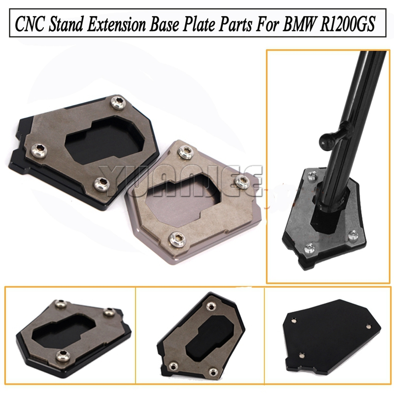 For BMW Motorcycle Accessories CNC Side Kickstand Stand Extension Plate <br><br>Aliexpress