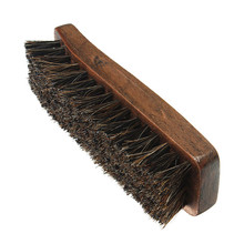 New Arrival Best Promotion Professional Wooden Handle Shoes Shine Brush Polish Bristle Horse Hair Buffing Brush(China)