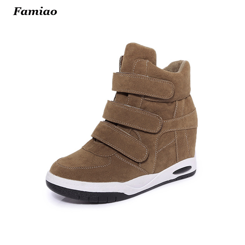 2017 Autumn Winter Style Women Shoes Hidden Wedge Heels Boots Womens Elevator Casual Shoes For Women Ankle Boots<br><br>Aliexpress