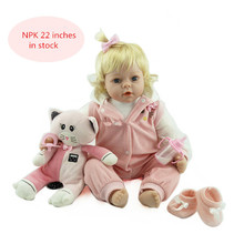 Newest silicone reborn doll realistic baby newborn 55cm cute baby reborn dolls christmas birthday gift toys for kids