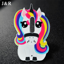 For Moto X Play Case Cover Motorola XT1562 3D Cute Cartoon Rainbow Unicorn Horse Animal Soft Silicone Mobile Phone Capa Coque(China)