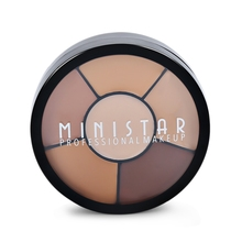 MINISTAR Brand Professional 6 Colors Face Eye Cream Concealer Palette Make Up Foundation Contour 3D Face Makeup Naked Cosmetic