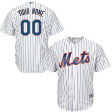 MLB Youth New York Mets Baseball White Home Custom Cool Base Jersey(China)