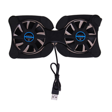 1PC Foldable USB Cooling Fan CPU Cooler Mini Octopus Notebook Cooler Pad Quiet Stand Double Fans for 7-15 inch Notebook Laptop