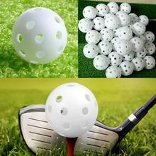 50Pcs Golf Training Aid Balls Plastic Airflow Hollow Golf Ball Practice Indoor Training Balls Golf Accessories