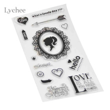 Lychee 1pc DIY Clear Transparent Rubber Stamps Sunflower Chrysanthemum Pattern Scrapbooking Decoration Silicone Seal Stamp Craft