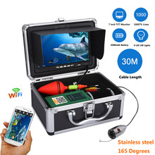 "MAOTEWANG 7"" Inch Monitor 30M 50M 1000tvl Underwater Fishing Video Camera Kit ,HD 720P Wifi Wireless For IOS Android APP DVR(China)"