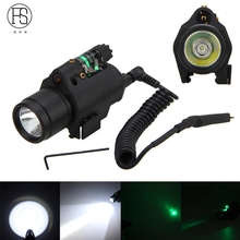FS 2 in 1 Combo Tactical Pulsed Green Laser Sight with 200LM LED Q5 Flashlight for Hunting Rifle and Pistol Glock 17 19 22(China)