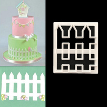 1PC Bamboo fence Shape Cutter Plastic Cake Decorating Mold Sugarcraft Mold Cookie Cutting P072
