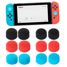 2Pcs Protect Caps Cover Heightened Design Soft Silicone Anti-Slip Case Skin Guard for Left Right Nintendo Switch Thumb Stick