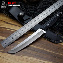LCM66 hunting knife D2 blade with Fixed blade and knife lanyard hole tactical sheath Outdoor Survival knife Cold steel Tools