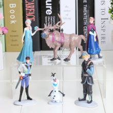 7-10cm 6pcs/lot Figure Toy Princess Elsa and Anna Queen Action Figure Doll Retail