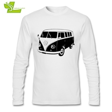 VOLKSWAGEN VW BUS T Shirt Man Long Sleeve O Neck Tees Adult Latest Tshirt Home Wear Normal Teenboys Tee Shirts(China)