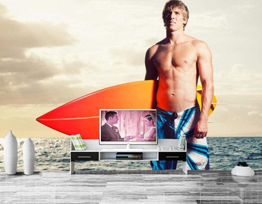 Custom murals,Men Sea Surfing Sport wallpapers,living room TV background sofa wall bedroom 3d wallpaper papel de parede<br>