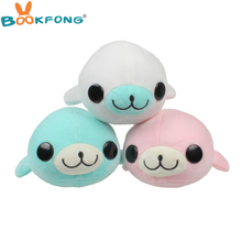BOOKFONG 1PC 17CM Kawaii sea lion plush toy car odor bamboo charcoal bag cute cartoon doll ornaments automotive