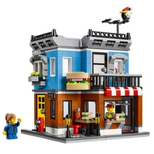 31050 Street Sandwich Shop 379Pcs Mini Bricks 3 In 1 Creative Streeview Series Building Blocks Toys For Children(China)