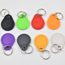 10pcs RFID Key Fobs chain 125KHz Proximity ABS Key Tags Rewritable Access Control ATMEL T5577 Hotel Door Lock