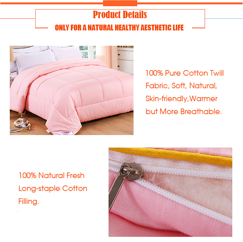 100% Natural Cotton Quilted Comforters a15
