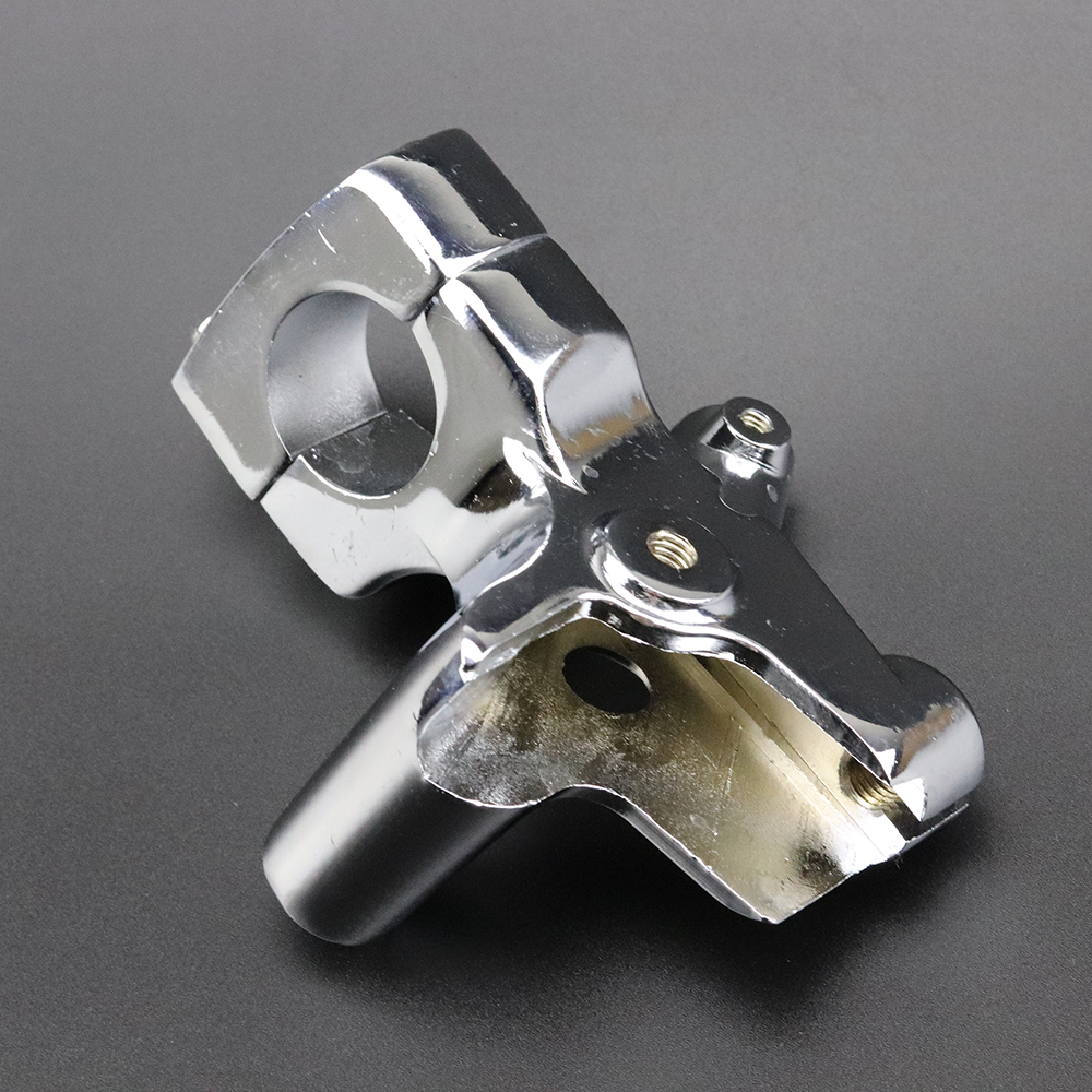 Color : Black XIEQUN 1 25mm Motorcycle Mirror Base Mount Scooter Left Clutch Lever Perch Holder Mount Bracket For H o n d a Shadow VT600 750 1100 VF750