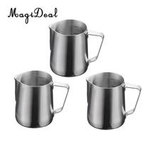 MagiDeal 3 Pieces 600ml Stainless Steel Coffee Frothing Milk Tea Latte Jug with Scale