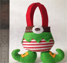 Elf pants style Candy Bags Christmas Gift Bag Xmas Bag for Children Christmas Decoration Supplies