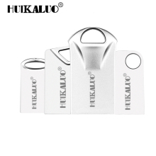 HUIKALUO Pen Drive Super mini USB Flash Drive Small cool bean pendrive 4GB 8GB 16GB tiny memory Stick 32GB 64GB 128GB U disk(China)