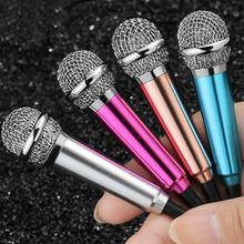 Cute Portable Mini Microphone Stereo Condenser Mic For iPhones IOS Android Smartphone PC Laptop Chatting Singing(China)