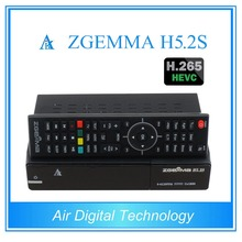 10 pcs/lot zgemma h5.2s twin DVB S/S2 support h.265 decoding with fastest cpu running