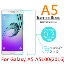 "5pcs 0.3mm 9H Toughened Tempered Glass For Samsung Galaxy A5 A5100 A510F 5.2"" (2016 TYPE) LCD Film Screen Protector Cover Guard"