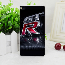 A1938 Gtr Logo Red Brand Transparent Hard Thin Skin Case Cover For Huawei P 6 7 8 9 Lite Plus Honor 6 7 4C 4X G7