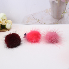 Korean Artificial Rabbit Fur Ball Girls Hair Clip Hair Accessories Gift Women Barrettes Hairball Hairpins Wholesale