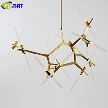 FUMAT Modern Hill Agnes Chandeliers Light Alloy Branch Lamp Dinning Room G9 LED Hanging Lamp Living Room Agnes Light Fixtures(China)