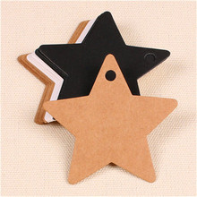300pcs 6*6cm garment accessories blank star design 3 colors art paper hang tag, shoes/clothing tags,message card