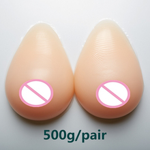 Buy 500g/pair cup Artificial Breast Breast Forms Silicone Bra Crossdresser Drag Queen Transgender False Breasts
