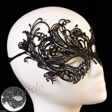 Cool Black Women Eye Mask Sexy Lace Ball Halloween Party Fancy Dress Costume New(China)