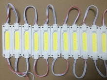 100pcs LED injection module COB waterproof LED back light backlight LED COB module for sign warm white/white DC12V 2W IP67   ABS
