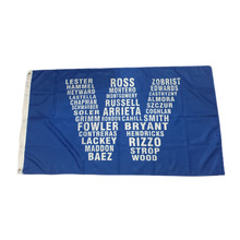 Chicago Cubs Team W Flag 3' X 5' Banner 2 Brass Metal Holes Flag Winwave 2016 World Series Chanmpions New Football 1543 90*150CM