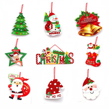 Merry Christmas Ornaments Christmas Gift Santa Claus Snowman Tree Pendant Toy Doll Home Xmas Party New Year Decorations