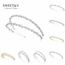 Bling Rhinestone Headband Tiara Crystal Hair Band Jeweled Headpieces Women Hair Jewelry for Bride Bridesmaid Party Dance(China)